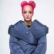 """Одежда handmade. Livemaster - original item Пуховик-кокон """"Однотонный"""" (цвет любой). Handmade."""