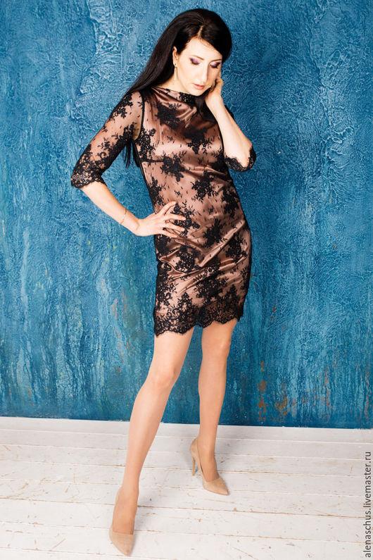 Платья ручной работы. Ярмарка Мастеров - ручная работа. Купить Платье коктейльное. Handmade. Черный, вечернее платье, платье повседневное