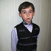 """Одежда ручной работы. Ярмарка Мастеров - ручная работа жилет детский вязанный """"Школьный"""" скидка 15 %. Handmade."""