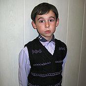 """Одежда ручной работы. Ярмарка Мастеров - ручная работа жилет детский вязанный """"Школьный"""". Handmade."""