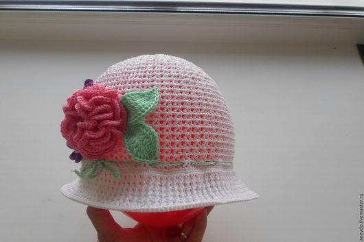 Шапки и шарфы ручной работы. Ярмарка Мастеров - ручная работа. Купить шапочка панамка. Handmade. Комбинированный, шапочка для девочки