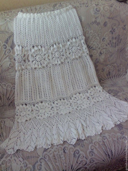 Белые ажурные юбки на лето