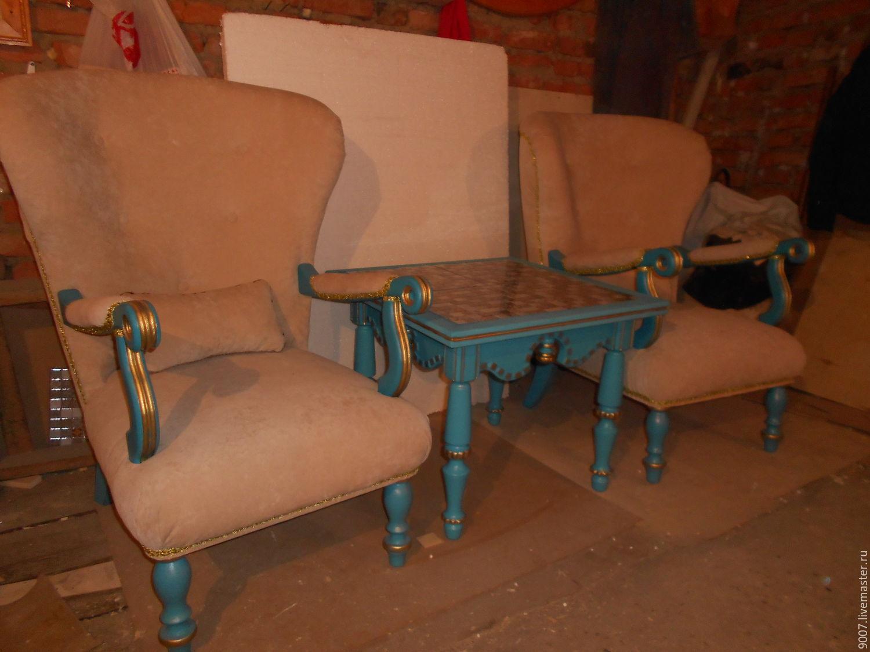 Чайный столик с креслами