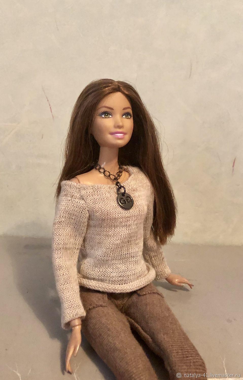 Одежда для Барби: шерстяной джемпер для барби, Одежда для кукол, Москва, Фото №1