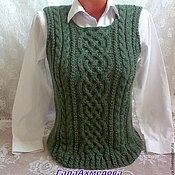 "Одежда handmade. Livemaster - original item Knitted vest ""Office style"" handmade. Handmade."
