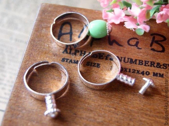 Для украшений ручной работы. Ярмарка Мастеров - ручная работа. Купить Основа для кольца пандора Для бусины (1шт). Handmade.
