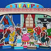 """Мягкие игрушки ручной работы. Ярмарка Мастеров - ручная работа Ширма+ """"Кошкин дом"""". Handmade."""