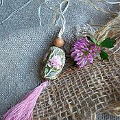 Украшения handmade. Livemaster - original item Suspension: The clover Pendant is the Impression of this flower. Handmade.