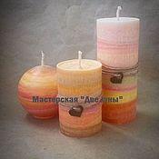"""Сувениры и подарки ручной работы. Ярмарка Мастеров - ручная работа """"Три апельсина"""" эко-свечи. Handmade."""
