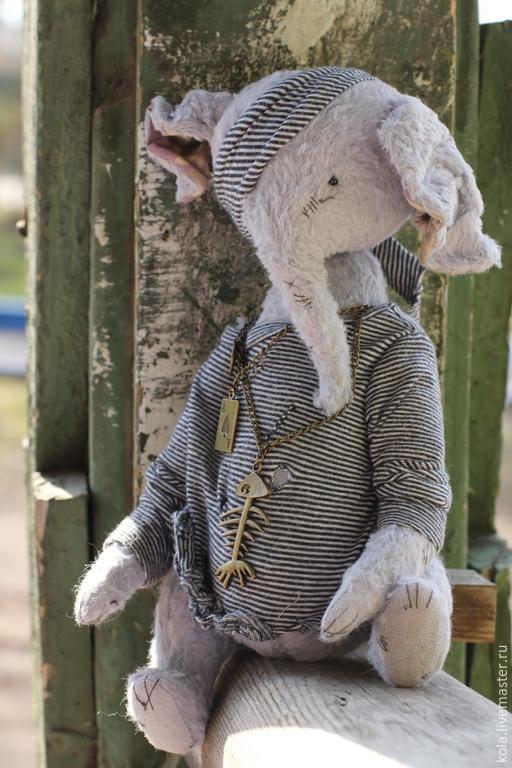Мишки Тедди ручной работы. Ярмарка Мастеров - ручная работа. Купить Роман. Handmade. Бледно-сиреневый, вискоза, опилки, фурнитура