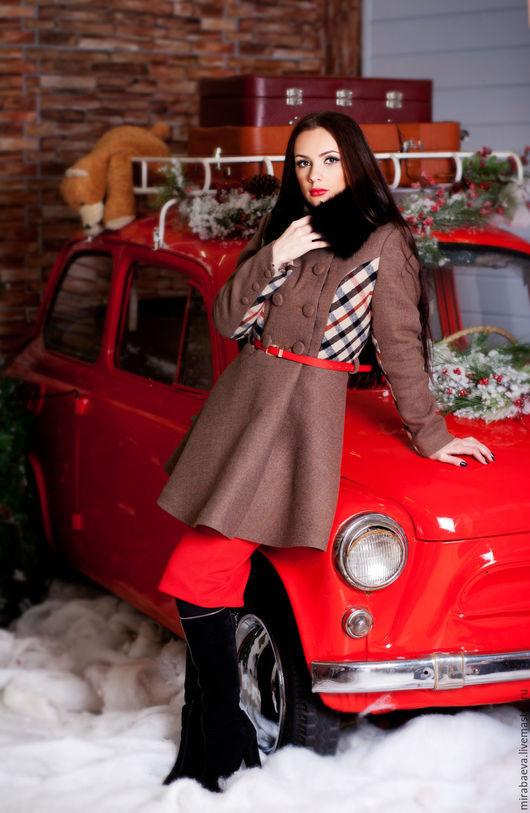 """Верхняя одежда ручной работы. Ярмарка Мастеров - ручная работа. Купить Пальто утепленное зимнее """"Сhocolate"""". Handmade. Бежевый"""
