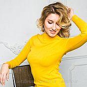 Одежда ручной работы. Ярмарка Мастеров - ручная работа Теплая водолазка горло стоечка жёлтого цвета. Handmade.