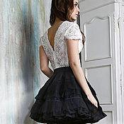 Одежда ручной работы. Ярмарка Мастеров - ручная работа Платье из кружева и натурального шелка. Handmade.