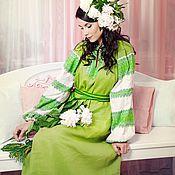 """Одежда ручной работы. Ярмарка Мастеров - ручная работа Платье """"Этно"""" светло-зеленое. Handmade."""