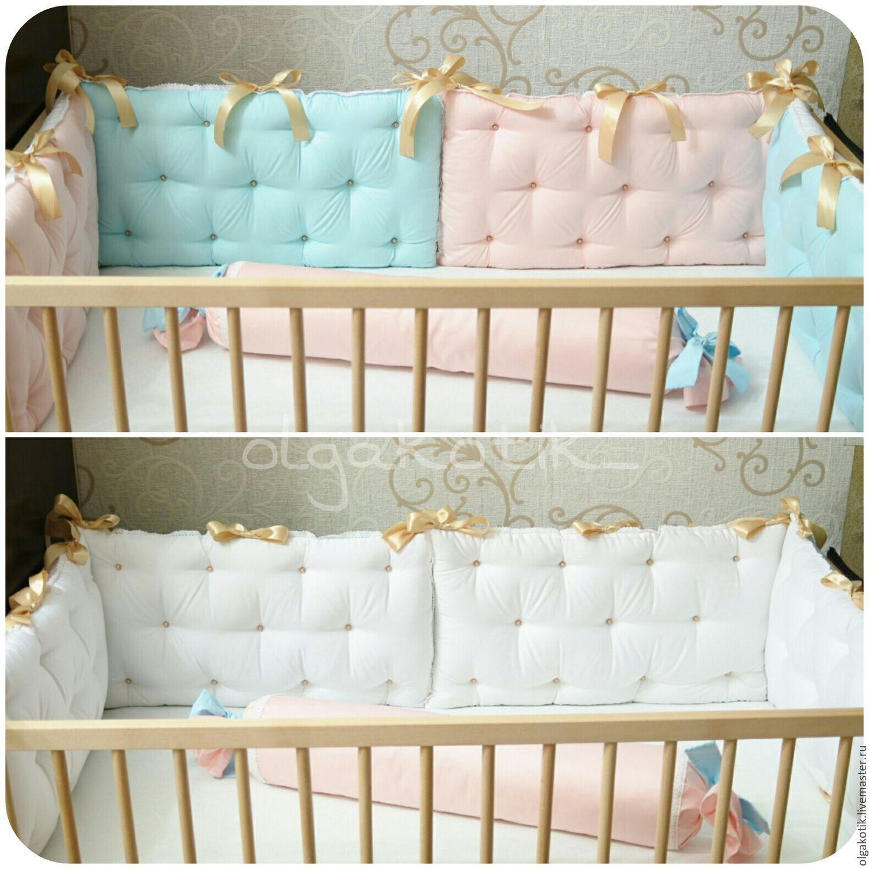 Бортики в детскую кроватку своими руками