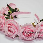 Украшения ручной работы. Ярмарка Мастеров - ручная работа Ободоки с розами №15, 4 цветов. Handmade.