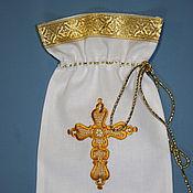 Работы для детей, handmade. Livemaster - original item Bag for curl or cross. Handmade.