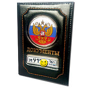 Сумки и аксессуары handmade. Livemaster - original item Vip Cover-Wallet with a car brand and license plate. Handmade.
