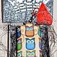 Кошельки и визитницы ручной работы. Ключница кожаная МИЛЫЕ СОВЯТА. Rusnika, Сделано, с любовью!. Ярмарка Мастеров. Подарок подруге, rusnika