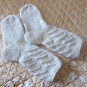 Носки ручной работы. Ярмарка Мастеров - ручная работа Носки из козьего пуха:подарок для мамы. бабушки и сестры. Handmade.