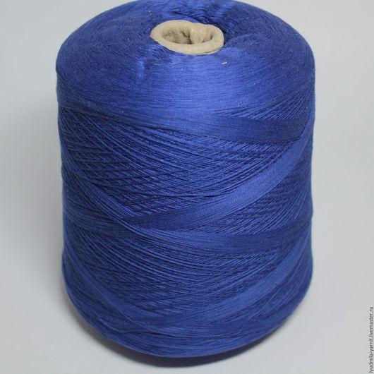 Вязание ручной работы. Ярмарка Мастеров - ручная работа. Купить Хлопок/шелк art GIRAFFE, цвет синий. Handmade. Тёмно-синий