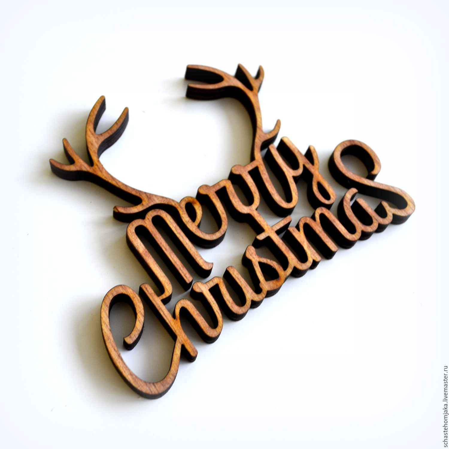 Merry Christmas. Souvenir of wood – shop online on Livemaster with ...