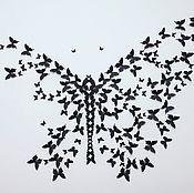 """Для дома и интерьера ручной работы. Ярмарка Мастеров - ручная работа Бабочки набор """"Классика"""" 150шт. Handmade."""