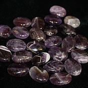 Материалы для творчества handmade. Livemaster - original item Amethyst, smooth oval beads, 20h15h6,5  mm (natural stone). Handmade.