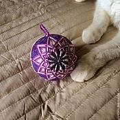 """Сувениры и подарки ручной работы. Ярмарка Мастеров - ручная работа """"Фиолетовое настроение"""" Темари. Handmade."""