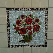 """Для дома и интерьера ручной работы. Ярмарка Мастеров - ручная работа Мозаичное панно """"Маки"""". Handmade."""