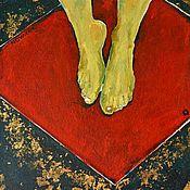"""Картины и панно ручной работы. Ярмарка Мастеров - ручная работа Картина """"Ассистентка Фокусника"""" (акрил, поталь). Handmade."""