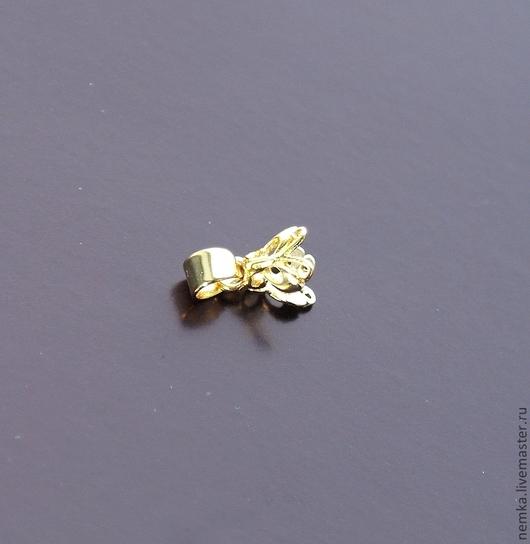 Для украшений ручной работы. Ярмарка Мастеров - ручная работа. Купить Подвеска-бабочка серебряная в виде бейла. Handmade. Золотой