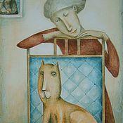 Картины и панно ручной работы. Ярмарка Мастеров - ручная работа Кот да Винчи. Handmade.