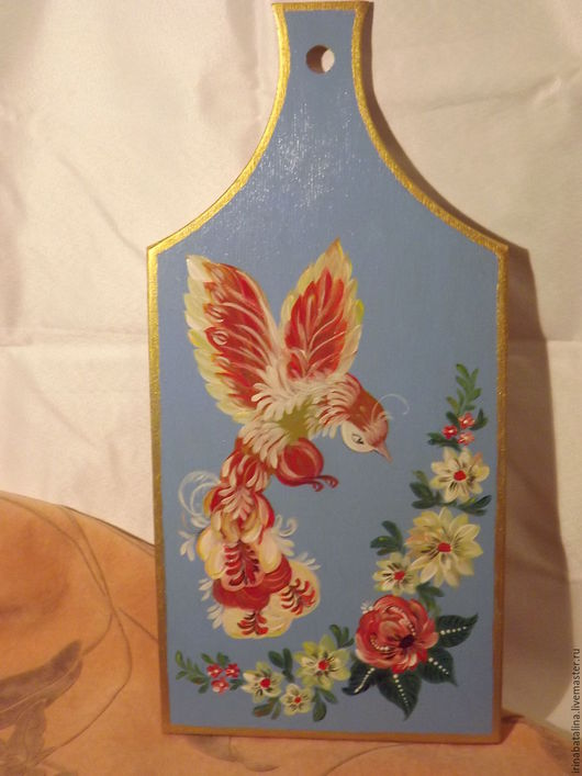 """Кухня ручной работы. Ярмарка Мастеров - ручная работа. Купить доска """"Сказочная птица"""". Handmade. Роспись по дереву"""
