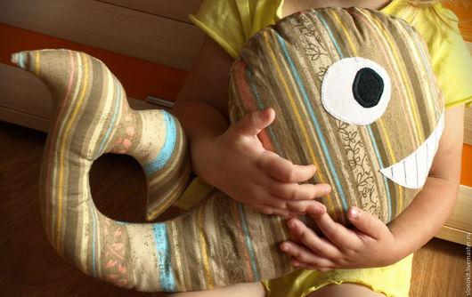 Игрушки животные, ручной работы. Ярмарка Мастеров - ручная работа. Купить Текстильная игрушка подушка кит полосатый. Handmade. кит