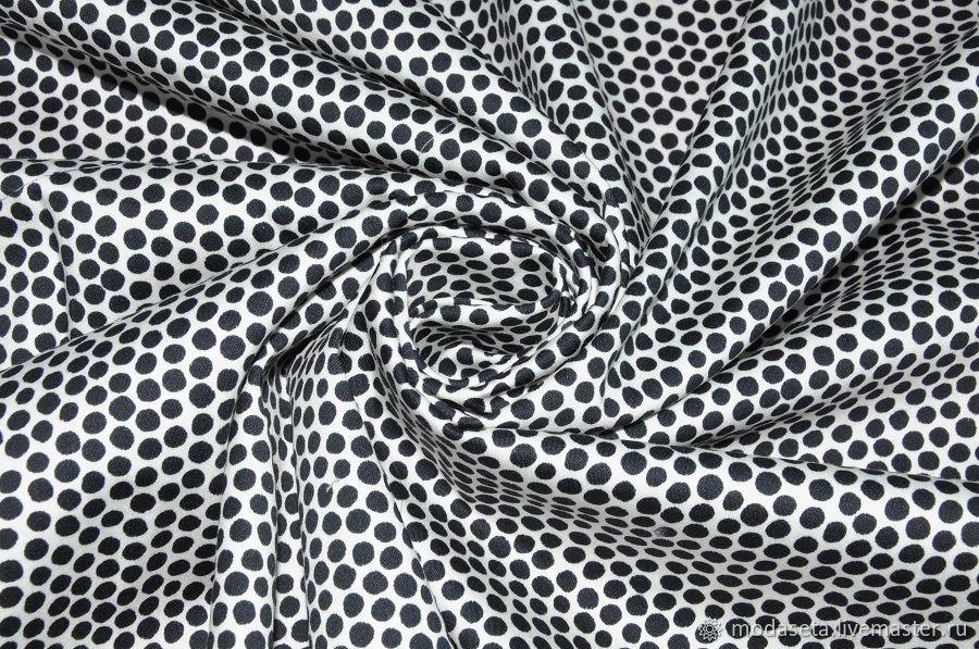 Хлопковая ткань мелкий горох, Италия, Ткани, Москва,  Фото №1