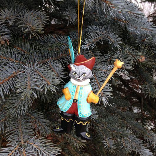 Новый год 2017 ручной работы. Ярмарка Мастеров - ручная работа. Купить Кот в сапогах. Handmade. Кот в сапогах, игрушка на елку