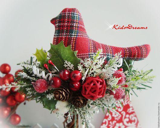 """Новый год 2017 ручной работы. Ярмарка Мастеров - ручная работа. Купить Птички """"Рождество"""". Handmade. Клетка, настроение, белый, норвежский"""