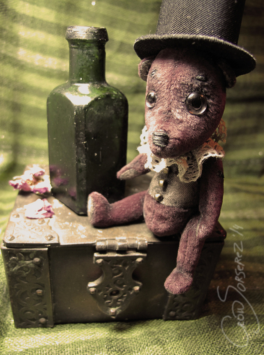 Мишки Тедди ручной работы. Ярмарка Мастеров - ручная работа. Купить Бургунди. Handmade. Бордовый, ретро