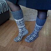 Аксессуары handmade. Livemaster - original item Woolen knitted socks with Norwegian pattern. Handmade.