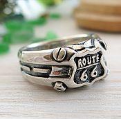 Перстень ручной работы. Ярмарка Мастеров - ручная работа Перстень Route 66. Handmade.