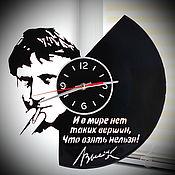 Для дома и интерьера handmade. Livemaster - original item Wall clock Vladimir Visotski. Handmade.