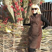 "Одежда ручной работы. Ярмарка Мастеров - ручная работа Платье ""Шоколад"" (натуральная замша). Handmade."