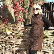 """Одежда ручной работы. Ярмарка Мастеров - ручная работа Замшевое платье """"Шоколад"""". Handmade."""