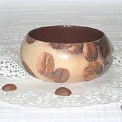 Украшения handmade. Livemaster - original item Brown and white bracelet from the Coffee tree. 2, coffee bracelet. Handmade.