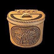 Для дома и интерьера handmade. Livemaster - original item Wooden cat. Box of birch bark