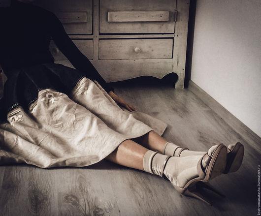 Юбки ручной работы. Ярмарка Мастеров - ручная работа. Купить авторская юбка Зазеркалье. Handmade. Комбинированный, юбка пышная, Аппликация