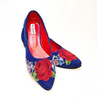 Обувь ручной работы. Ярмарка Мастеров - ручная работа Туфли-лодочки «Алёнка». Handmade.