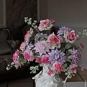 """Цветы и флористика ручной работы. Ярмарка Мастеров - ручная работа Букет """" Розовая весна"""". Handmade."""