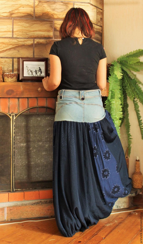 Из джинсов кокетка для юбки
